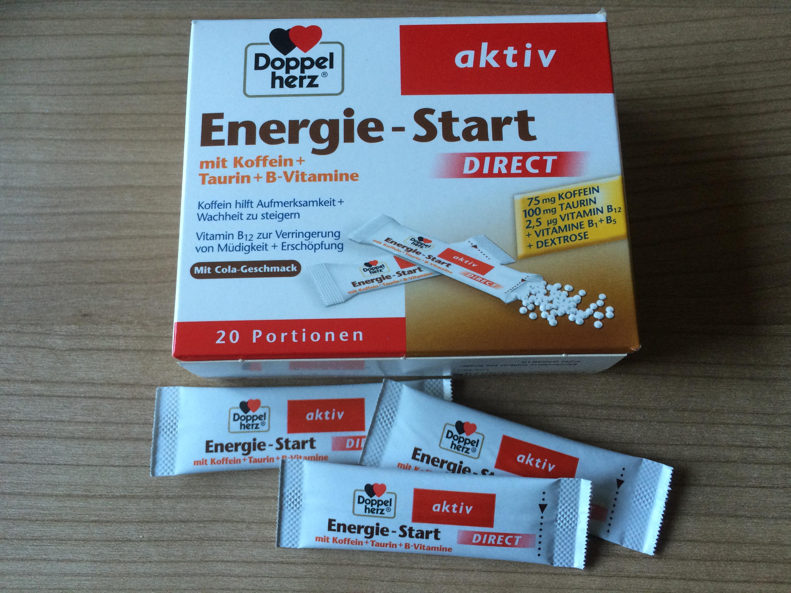 Doppelherz Energie-Start aktiv Packung Probenqueen