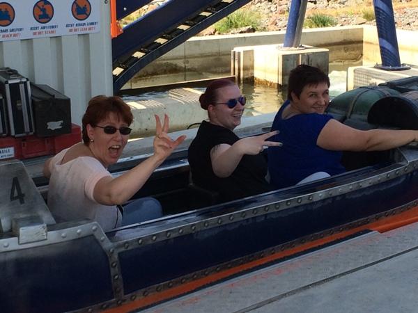 Summer-Challenge Bloggertreffen 2015 Wasserrutsche Mädels Probenqueen