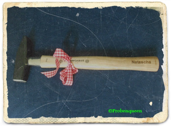 Diamandi Hammer mit Namensgravur Probenqueen
