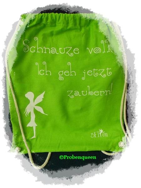 3 Elfen Jutebeutel grün Probenqueen