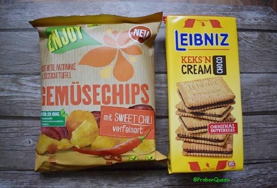 Brandnoozbox Januar 2017 Enjoy Gemüsechips und Leibnisz Cream Kekse - Probenqueen