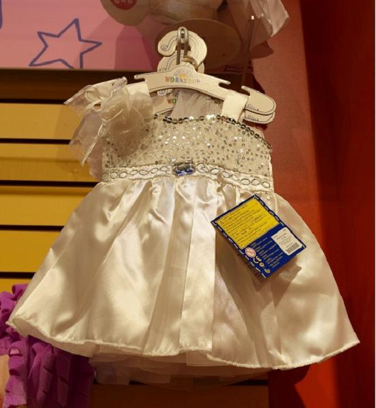 Build-a-Bear weißes Kleidchen Probenqueen