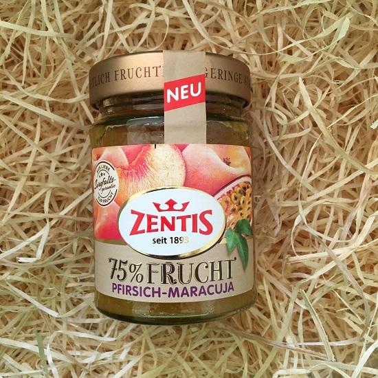 Brandnooz Box Mai 2017 Zentis 75% Frucht Pfirsich-Maracuja Probenqueen