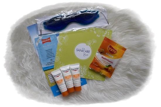 Sanicare Box Sommerzeit Geschenk und Proben Probenqueen