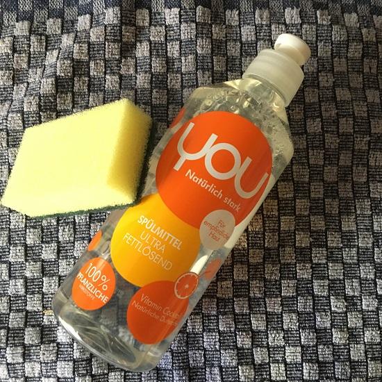 YOU natürlich stark Spülmittel Flasche Vitamin Mix Probenqueen