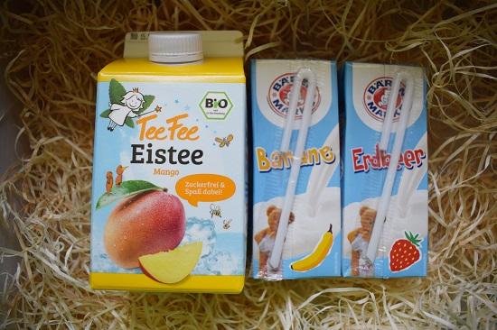 Brandnooz Box August 2017-Eisfee-Eistee-Bärenmark-Milchmichgetränk-Probenqueen